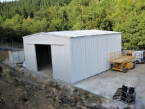 Hangar metálico para garaje PLENAVE 12.5 Beasaín (Guipúzcoa)