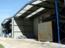 Naves industriales prefabricadas. 3 hangares PLENAVE 12.4 (395m2). Bordeaux (Francia)