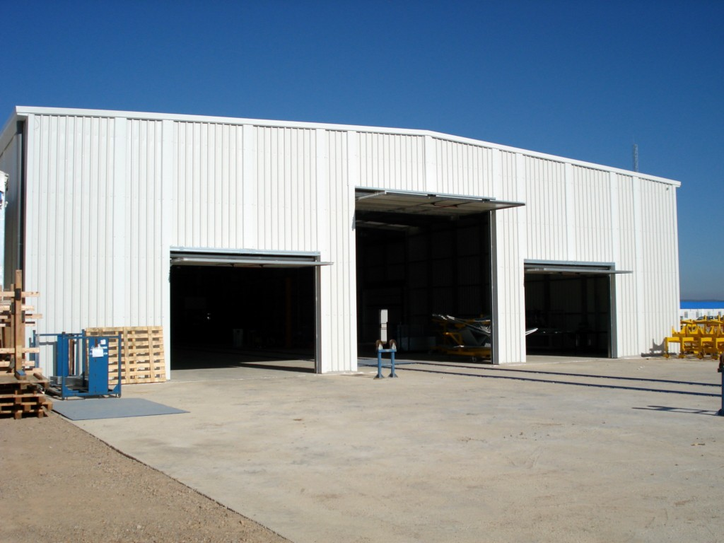 Galpones industriales desmontables para planta termosolar