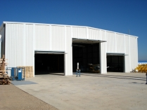 Naves industriales desmontables PLENAVE 24.7 planta termosolar 2.300 m2 (Badajoz)