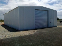 Almacén metálico desmontable PLENAVE 12.5 de 214 m2 en Poitiers (Francia)