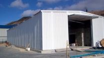 Almacén metálico provisional PLENAVE 12.5 Porto Santo (Portugal)