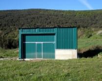 Nave plegable desmontable PLENAVE 7.3 instalada en Yosa de Sobremonte (Huesca)